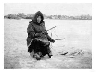 Eskimo Ice Fishing in Nome, Alaska Photograph   Nome, AK Photo at