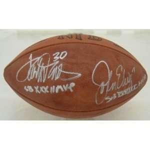 John Elway & Terrell Davis Autographed/Hand Signed Official NFL