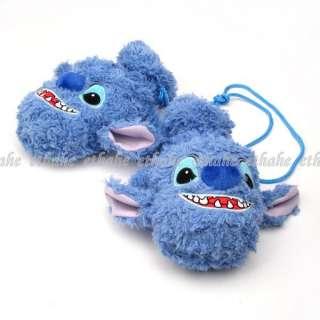 Lilo & Stitch Plush Gloves Mittens w/String Blue E1G1V6