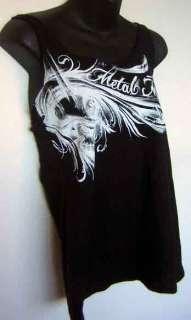 Metal Mulisha Black Feather Logo Motorcross RacerBack Cami Tank Top
