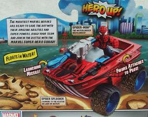 SPIDER MAN SPIDER SPLASHER LAND & SEA CRUISER   AGE 3+