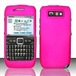 Pink Rubberized Hard Case Cover for Straight Talk Nokia E71