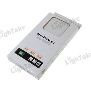 2000mAh Portable External Battery Charger for Mobile Cell Phone White