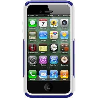 Blue / White Otterbox Commuter Series Case Cover for IPhone 4 4G 4S