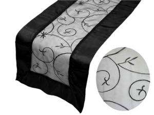 20 x EMBROIDERED TABLE RUNNER wedding party favors supply new   23
