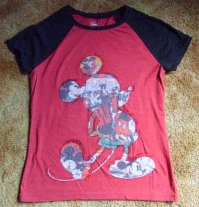 NWOT Juniors sz LG Disney Mickey Mouse T Shirt