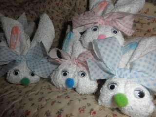 Boo Boo Bunny Bunnies Baby Shower Party Nursery Gift washcloth Favors