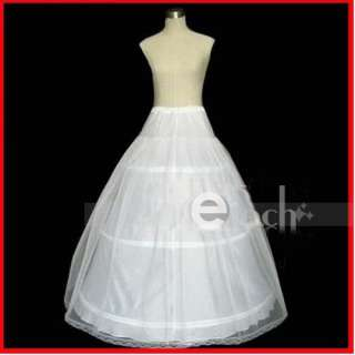 quality 3 Hoops Wedding Bridal Gown Dress Super Full Petticoat