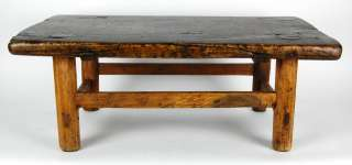 ANTIQUE RUSTIC COFFEE TABLE Wood Side Stand Display 27