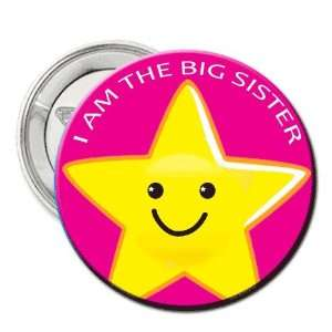 2.25 Button Pin Badge I Am the Big Sister   Baby Shower