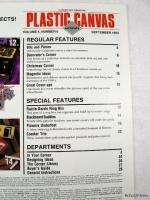 Plastic Canvas Corner Magazine September 1993 ~ Honey Bee Set