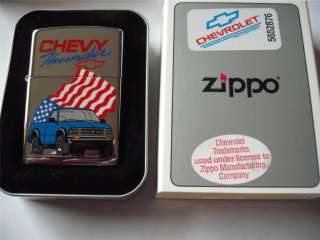 THUNDER ZIPPO LIGHTER VINTAGE XIV 1998 CHEVROLET PICKUP TRUCK