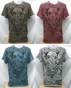 Ganesh God Hindu OM Mens Short Sleeve T Shirt TOP, XL