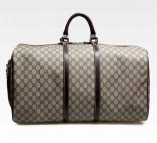 GUCCI Duffle Bag BROWN Gucci Plus Fabric Luggage Carry On Travel Bag