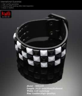 Gothic Punk Rock Emo Pyramid studs Bracelet Wristband S