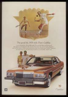 1979 racquetball photo Cadillac Coupe DeVille car ad