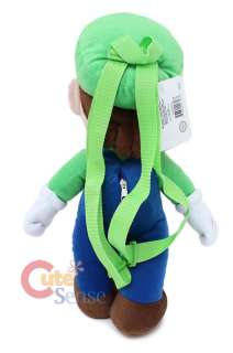 Super Mario Bro LUIGI Plush Bag/BackpackLicensed 19 L