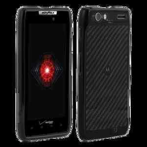 XT912 Droid RAZR Black High Gloss Silicone Cover Case OEM Verizon