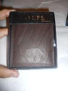 Rolfs Mens Premium Deluxe Genuine Leather Billfold Wallet,Brown