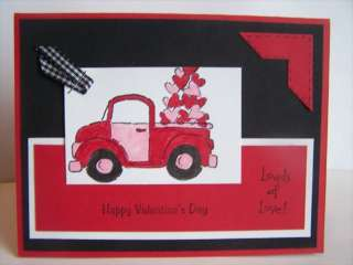 Stampin Up handmade greeting card Valentines day LOVE