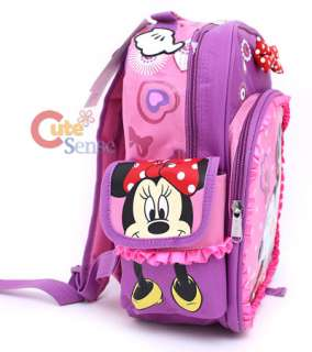 Disney Minnie Mouse School Backpack 12 Medium Bag Pink Bow Laces