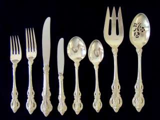 TOWLE EL GRANDE STERLING SILVER FLATWARE SET 74 PIECES