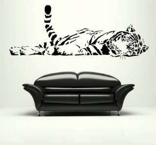 CAT large tiger wall art stickers decals graphic bengal tiger transfer
