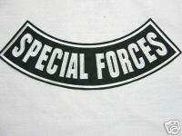 SPECIAL FORCES, MILITARY, BIKER, VIETNAM, PATCH 11X3