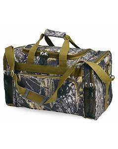 KC Caps Mossy Oak 20 Camo Duffle Bag, Camouflage Hunting Gear Pack
