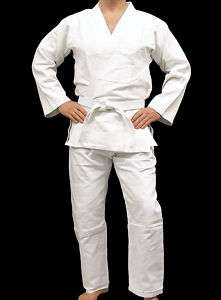 Brazilian Jiu Jitsu Gi BJJ Uniform Single Weave White