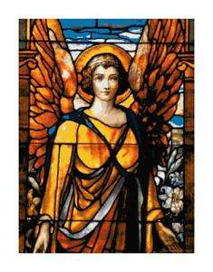 Stained Glass Angel Handmade Cross Stitch Pattern