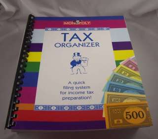 Monopoly Income Tax organizer Make taxes time easier