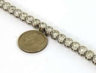 OPULENT 14K GOLD 7 CTS DIAMONDS LADIES TENNIS BRACELET