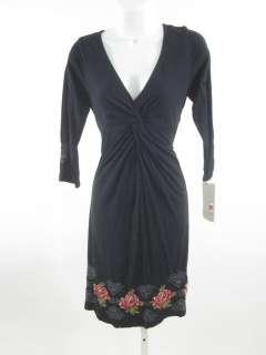 NWT JW LOS ANGELES Black Embroidered Dress Sz XS $198