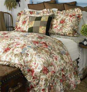 Ralph Lauren COASTAL GARDEN Queen Bedskirt NEW