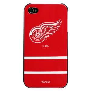 Red Wings Jersey Stripe Hard Case for Apple iPhone 4/4S Cell Phones