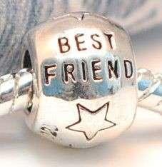 Sterling Silver European Bead GOLDEN OVALS, BEST FRIEND, SHIP, SPACER