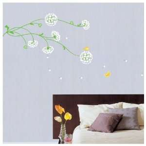 WIND FLOWER WALL ART DECOR Mural Decal STICKER(KR0026