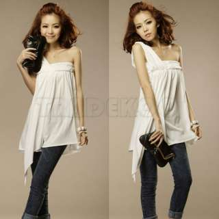 New Casual design Women Sexy Off Shoulder Flouncing Long Top T Shirt
