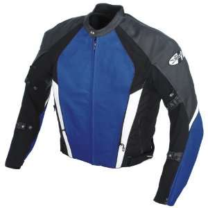 Joe Rocket Pro Street Leather Jacket   46/Blue/Black