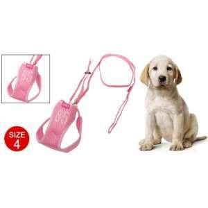 Como Puppy Dog Vest Harness w/ Leash Nylon Mesh Size 4