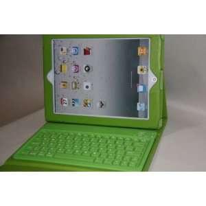 Hktimes Wireless Bluetooth Keyboard Leather Case Folio for Ipad 3 2