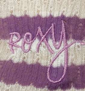 ROXY~ PURPLE WHITE STRIPE MESH HENLEY TANK TOP S