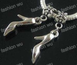 Lot 50 Pcs High Heel Shoes Beads Fit Charm Bracelet 1