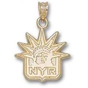 New York Rangers 10K Gold NYR Liberty Logo 5/8 Pendant