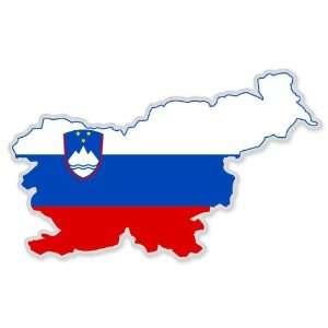 Slovenia Map Flag car bumper sticker 5 x 3