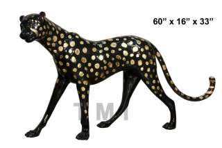 Cheetah Leopard Wildcat Garden sculpture Yard Art. Life Size