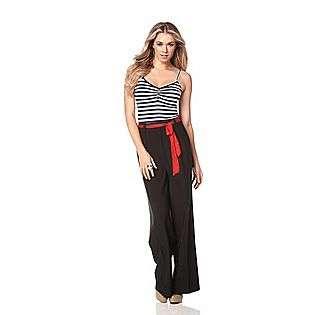 Button Stripe Tank  Kardashian Kollection Clothing Womens Tops