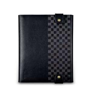 NavJack iPad 2 Scroll Leather Folio Case   Chamois Black