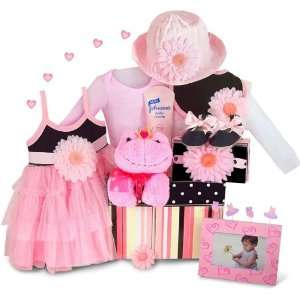 Personalized Perfectly Kissable Princess Baby Girl Gift Basket: Baby